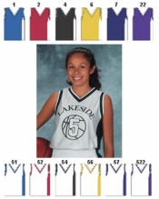 1467 YOUTH MIX AND MATCH SERIES DELUXE V-NECK TANK BASKETBALL JERSEY - Product Image