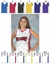 1447 WOMENS MIX AND MATCH SERIES DELUXE V-NECK TANK BASKETBALL JERSEY - Product Image