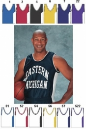 1457 MENS MIX AND MATCH SERIES DELUXE V-NECK TANK BASKETBALL JERSEY - Product Image