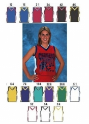 1443 WOMENS SHADOW SERIES DELUXE BASKETBALL JERSEY - Product Image