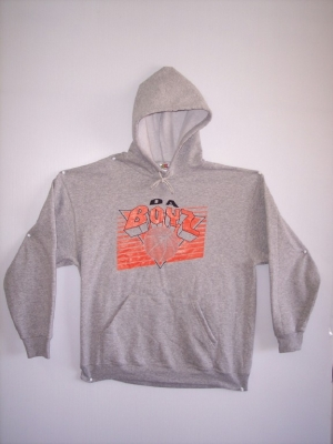 HOODED SWEATSHIRT: 2 COLORS INK - Product Image